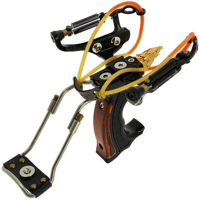 Powerful High Velocity Folding Compound Game Hunting Outdoor Slingshot Catapult