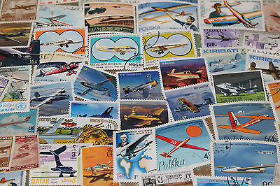 Bulk Lot Planes,aircraft Themed Stamps X 50  Good Mix Free Postage In Oz