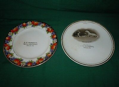 2 Vtg early 20c Advertising Plates A.O. McMISSICK General Merchandise Euclid PA