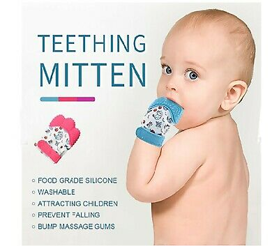 Baby Teething Glove Toys Baby Teeth Toys Teething Mitten Wrapper Sound Teether