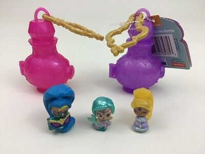 Shimmer & Shine Teenie Genies Lot 5pc Genies & Collector Lamp Keychains