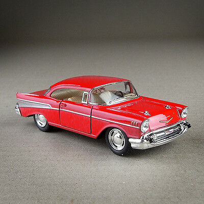 1957 Chevrolet Bel Air 1:40 Scale Die-cast Metal Model Car Red Classic Chevy