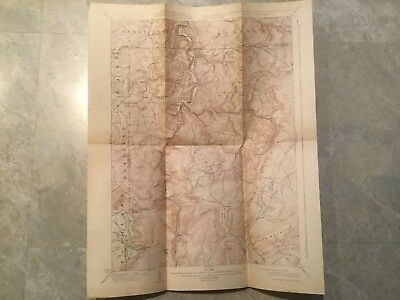 Antique 1927 Topographic Map Of MD, WV, PA Accident Quadrangle