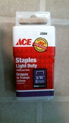 """ACE 22264 Light Duty 5/16"""" Staples, FREE SHIPPING"""