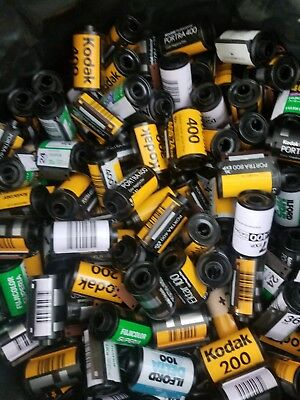 Lot of 150 Assorted 35mm film canisters cans cassettes cartridges Kodak Fuji