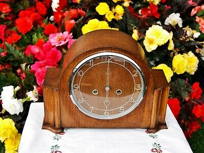Smiths Antique Art Deco Striking Mantel Clock, June 195O, Excellent!