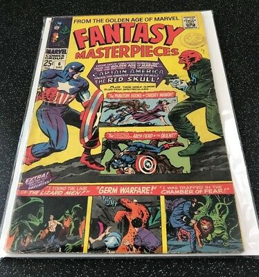 Marvel - Fantasy Masterpieces #6 Capt. America Red Skull G/VG condition