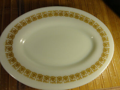 "PYREX VINTAGE TIBURON OVAL PLATES, 9 1/2"" INCHES BY 7 INCHES, Set of 4"