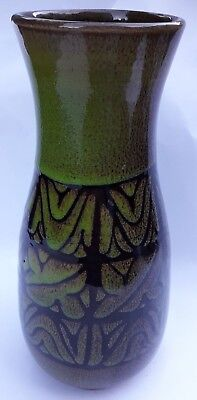 """9"""" High Poole Abstract Aegean Pottery Vase 1960s Vintage combined postage"""