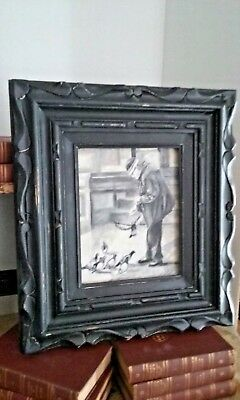 Boston Public Library oil painting,original,framed,Listed Artist,signed,BPL,Bird