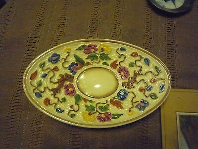 Vintage Art Deco Indian Tree Pattern oval plate from H J Wood