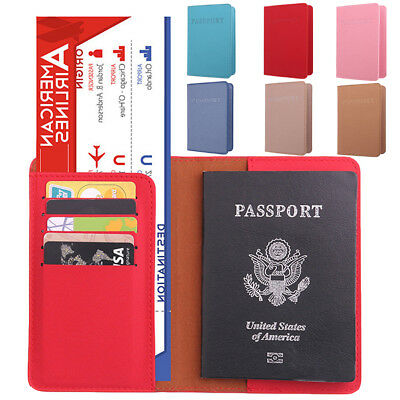 1* Fashion Passport Holder Travel Wallet ID Cards Case Cover Organizer Protector