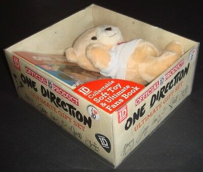 ONE DIRECTION Soft Toy & Ultimate Fans Book - Boxed. Official 1D Product