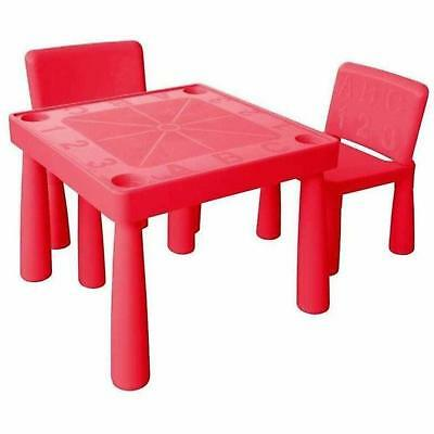 Jolly Kidz - Kids Heavy Duty Plastic Table & Chair Set With Recessed Cup Holders