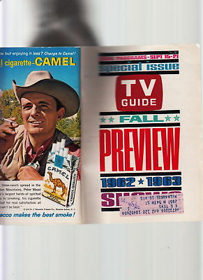 Tv Guide-Fall Preview 1962-63-Special Issue-Gleason/caesar/jetsons-Mchale's Vg+