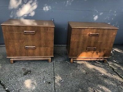 John Widdicomb Pair Mid Century Chests Of Drawers Dressers Unusual And Cool