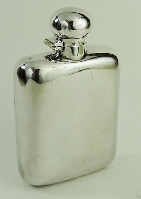 EDWARDIAN Antique SILVER PLATED HIP FLASK c1900's