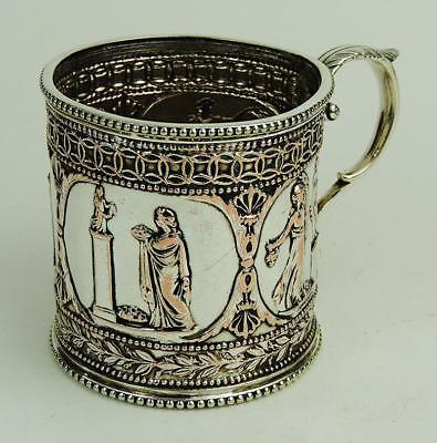 VICTORIAN ANCIENT GREEK / CLASSICAL SILVER PLATED CUP 19th Century