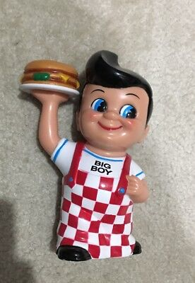 1999 Frisch's Big Boy Advertising Hard Vinyl Coin Bank Numbered #a047