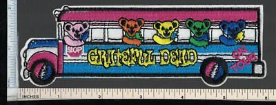 GRATEFUL DEAD Sew On/Iron On Patch; Dancing Bears On Tour Bus Goin Down the Road