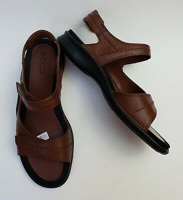 3c61f7e71c42 ECCO SHOES SANDALS Brown 2 Strap Womens Size US 8-8.5 EU 39 -  75.96 ...