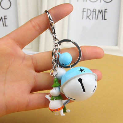 Moomin Valley Muumi Keychain Keyring Bell Bag Pendant Cute Kids Accessories Gift