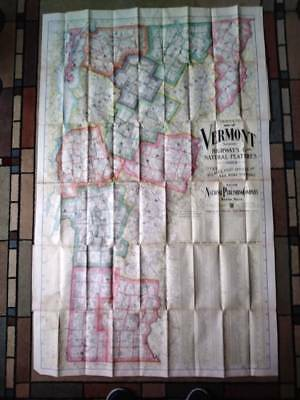 National Publishing Company Foldout (Book style) Map of Vermont, 1902