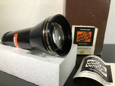 "Golden Navitar Projection Lens 7.5"" f/ 2.8 Complete In Box"