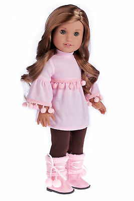 Sweet Pea - 3 Piece Doll Outfit - Clothes Fits 18 Inch American Girl Doll