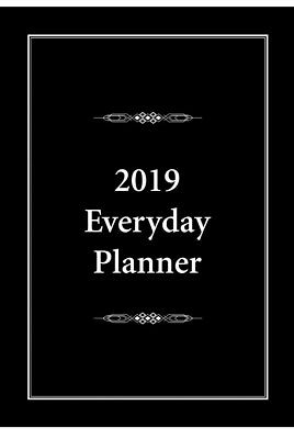 2019 Everyday Planner A4 Black Blue And Pink  by Bartel **reduced**