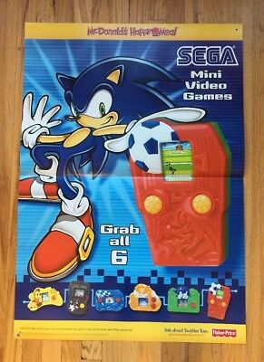 Sega Mcdonalds Happy Meal Poster. 2003. 2 Feet By 3 Feet. Free Shipping.