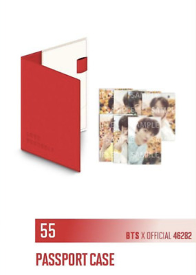 BTS World Tour Love Yourself Official PASSPORT CASE w/ Mini Photocard goods MD