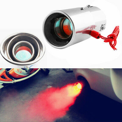 Universal Car Red LED Light Exhaust Pipe Spitfire Flaming Tail Muffler Rakish