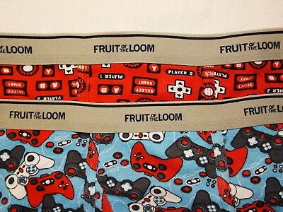 NWOT Boys Fruit of the Loom Briefs Video Games Pattern Sz XL 18-20 2 Pairs