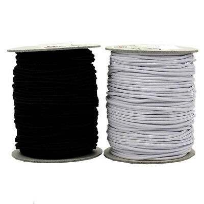 180 yards Round Elastic Cord Black/White Hats Beading Crafts 2mm/2.5mm/3mm Wide