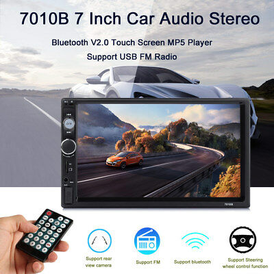7'' 2Din HD Car MP5 Player Touch Screen Bluetooth FM Radio USB In-Dash TF Stereo