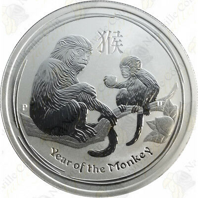 2016 Australia 1/2 oz .999 fine silver Year of the Monkey -- SKU #84601