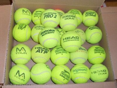 Used Tennis Balls (X24) 2 Dozen Ideal For Dog Walkers All Top Brands