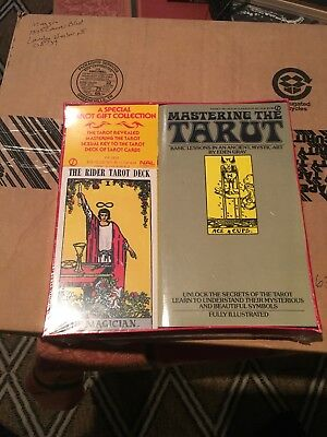 Mastering the Tarot Book + Cards Sealed Vintage Gift Set Rare! Mysticism Occult