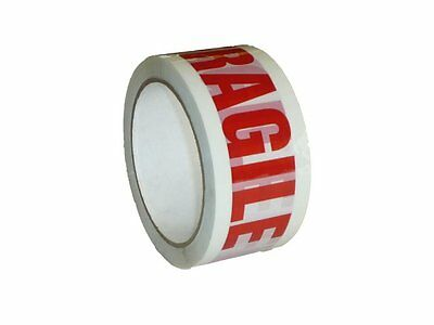 12 Rolls Of FRAGILE LOW NOISE GOOD QUALITY Parcel Pack TAPES 48mm x 66M CHEAP