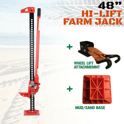 "Hi Lift High Farm Jack 48"" - KIT - With Base &  Jack Mate 4WD Heavy Duty"