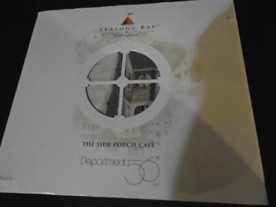 Dept 56 Season's Bay The Side Porch Cafe First Edition Brand New in Box #53303