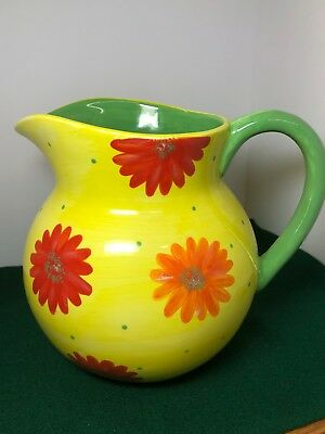 """The Mainstreet Collection ~ Hand Painted Porcelain Pitcher/Jug ~ China  8"""" Tall"""