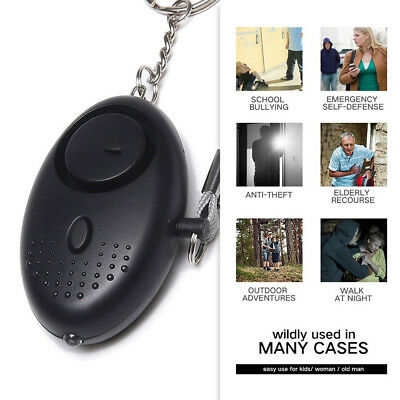 Personal Safety Sound Self-defence Security Alarm Key Chain LED Emergency Tools