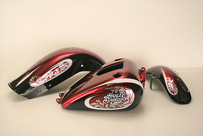 2008-2013 Harley-Davidson Dyna Fat Bob FXDF custom paint set; gas tank & fenders