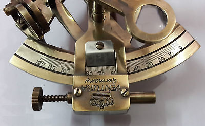 Nautical Solid Brass Sextant Vintage Marine Kelvin Hughes Antique Sextant Item