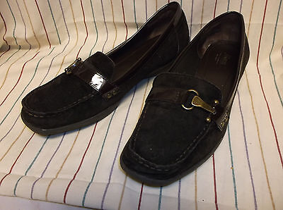 Bass Brown Suede Leather Slip-On Loafers Women's Shoe Size 9