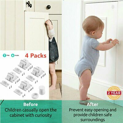 4/8PCS Portable Safety Locks Magnetic Cabinet Drawer Cupboard Lock For Kids