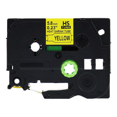 Compatible for Brother Heat Shrink Tubes HSe 611 621 631 641 P Touch Label Tape