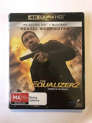 The Equalizer 2 (4K Ultra HD + Blu-ray) Brand New & Sealed Rated MA15+ Movie 🍿